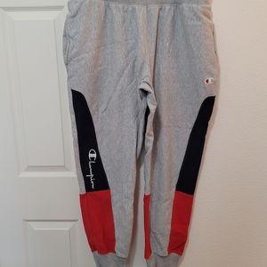 Champion Reverse Weave Sweatpants Men's Size XL Red Gray Navy blue X-Large